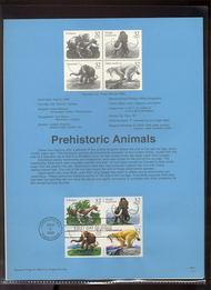 USPS Souvenir Page 96-21   3080a     32c Prehistoric An 96-21