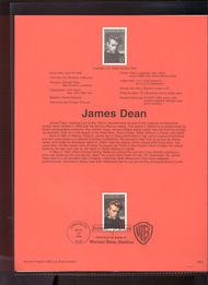 USPS Souvenir Page 96-24   3082      32c James Dean 96-24