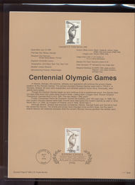 USPS Souvenir Page 96-26   3087      32c Olympic Discus 96-26