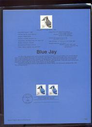 USPS Souvenir Page 96-28   3053/48    20c Blue Jay Coil  96-28