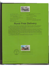 USPS Souvenir Page 96-29   3090      32c Rural Free Del 96-29