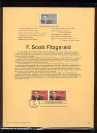USPS Souvenir Page 96-33   3104      23c F. Scott Fitzg 96-33