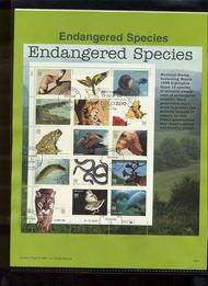 USPS Souvenir Page 96-34   3105      32c End. Species S 96-34