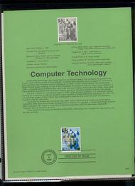 USPS Souvenir Page 96-35   3106      32c Computer Tech. 96-35