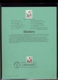 USPS Souvenir Page 96-37   3117      32c Skaters 96-37