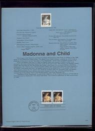 USPS Souvenir Page 96-39   3107/12    32c Madonna Sht. & 96-39