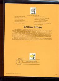 USPS Souvenir Page 96-40   3049      32c Yellow Rose Bk 96-40