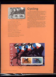 USPS Souvenir Page 96-41   3119      50c Cycling Souv S 96-41