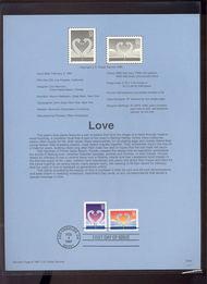 3123-24 USPS Souvenir Page 97-05 32c & 55c Love 97-05