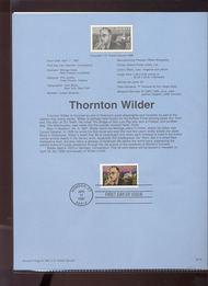 3134 USPS Souvenir Page 97-10 32c Thornton Wilder 97-10