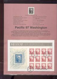 3140 USPS Souvenir Page 97-14 60c Washington Sheet 97-14