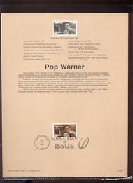3149 USPS Souvenir Page 97-20C 32c Pop Warner 97-20C