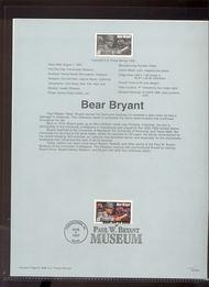 3150 USPS Souvenir Page 97-20D  32c Bear Bryant 97-20D