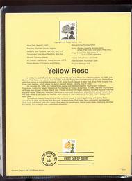 3054 USPS Souvenir Page 97-21 32c Yellow Rose 97-21