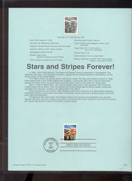 3153 USPS Souvenir Page 97-22 32c Stars & Stripes Bk 97-22