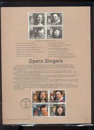 3154-57 USPS Souvenir Page 97-25 32c Opera Singers 97-25