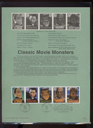 3168-72 USPS Souvenir Page 97-27 32c Movie Monsters 97-27