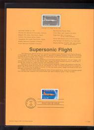3173 USPS Souvenir Page 97-28 32c Supersonic Flight 97-28
