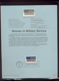 3174 USPS Souvenir Page 97-29 32c Women in Military 97-29