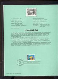 3175 USPS Souvenir Page 97-30 32c Kwanzaa 97-30