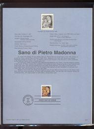 3176 USPS Souvenir Page 97-31 32c Madonna 97-31