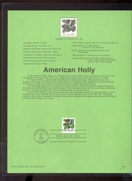 3177 USPS Souvenir Page 97-32 32c American Holly 97-32