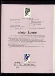 3180     32c Winter Sports USPS Souvenir Page 98-02