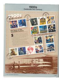 3182     32c 1900s Celebrate the Century USPS Souvenir Page 98-03A