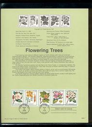 3197a    32c Flowering Trees-Strip of 5 USPS Souvenir Page 98-05