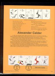 3202a    32c Alexander Calder-Strip of 5 USPS Souvenir Page 98-06