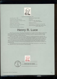 2935     32c Henry R. Luce USPS Souvenir Page 98-07