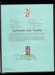 3204a    32c Sylvester & Tweety Single USPS Souvenir Page 98-09