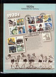 3184     32c 1920s Celebrate the Century USPS Souvenir Page 98-09A