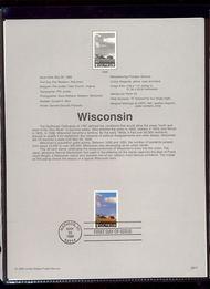 3206     32c Wisconsin Statehood USPS Souvenir Page 98-10