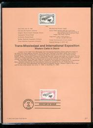3210     $1.00 Trans-Mississippi Single USPS Souvenir Page 98-12
