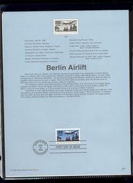 3211     32c Berlin Airlift USPS Souvenir Page 98-14