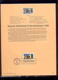 3220     32c Spanish Settlement of SW USPS Souvenir Page 98-16