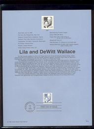 2936     32c Lila and DeWittt Wallace USPS Souvenir Page 98-18