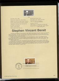 3221     32c Stephen Vincent Benet USPS Souvenir Page 98-19