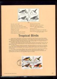 3222-25   32c Tropical Birds (Block of 4) USPS Souvenir Page 98-20