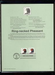 3050/3055  20c Pheasant Coil & Booklet USPS Souvenir Page 98-22