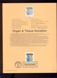 3227     32c Organ & Tissue Donation USPS Souvenir Page 98-24