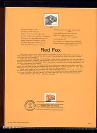 3036     $1.00 Red Fox Definitive USPS Souvenir Page 98-24A