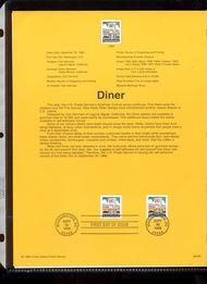 3207A    (25c) Diner Coils USPS Souvenir Page 98-28A