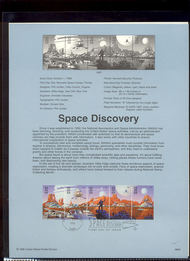 3242a    32c Space Discovery Strip of 5 USPS Souvenir Page 98-29