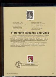 3244     32c Florentine Madonna USPS Souvenir Page 98-31