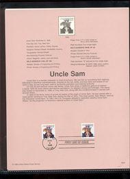 3259/3263  (22c) Uncle Sam (2 Types) USPS Souvenir Page 98-34