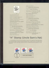 3267-69   (33c) Hat Booklets-3 Types USPS Souvenir Page 98-36