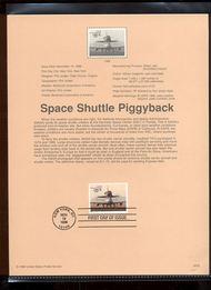 3262     $11.75 Space Shuttle/747 Piggyback USPS Souvenir Pa 98-39