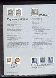 3207A/3270-1 (10c) Eagle 2 Types (5c) Wetland Coils USPS Souveni 98-40